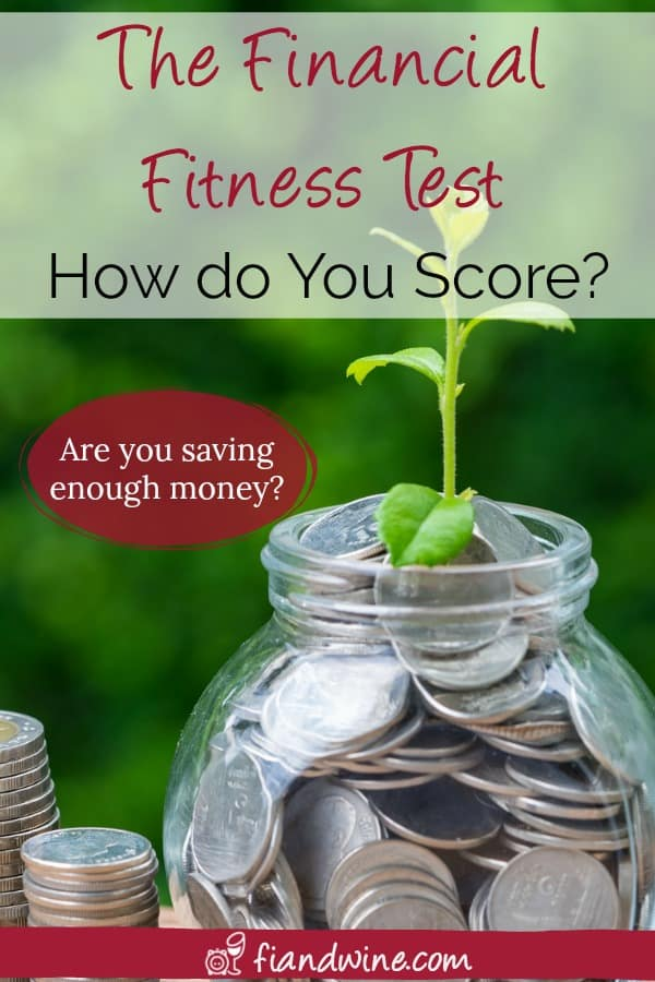 Find out if you are saving enough money and on the right track for a healthy financial future with this financial fitness test! Personal Finance | Save Money | Wealth Building | Early Retirement | Financial Freedom | Financial Independence | Savings Rate | Net worth