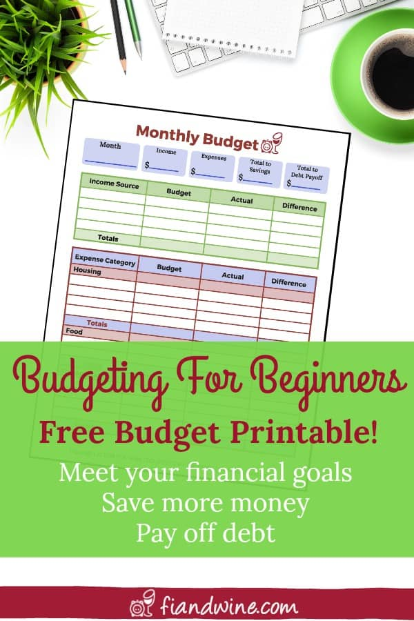 Download this FREE budget printable and take control of your finances today! Personal Finance | Budgeting | Save Money | Debt Payoff |
