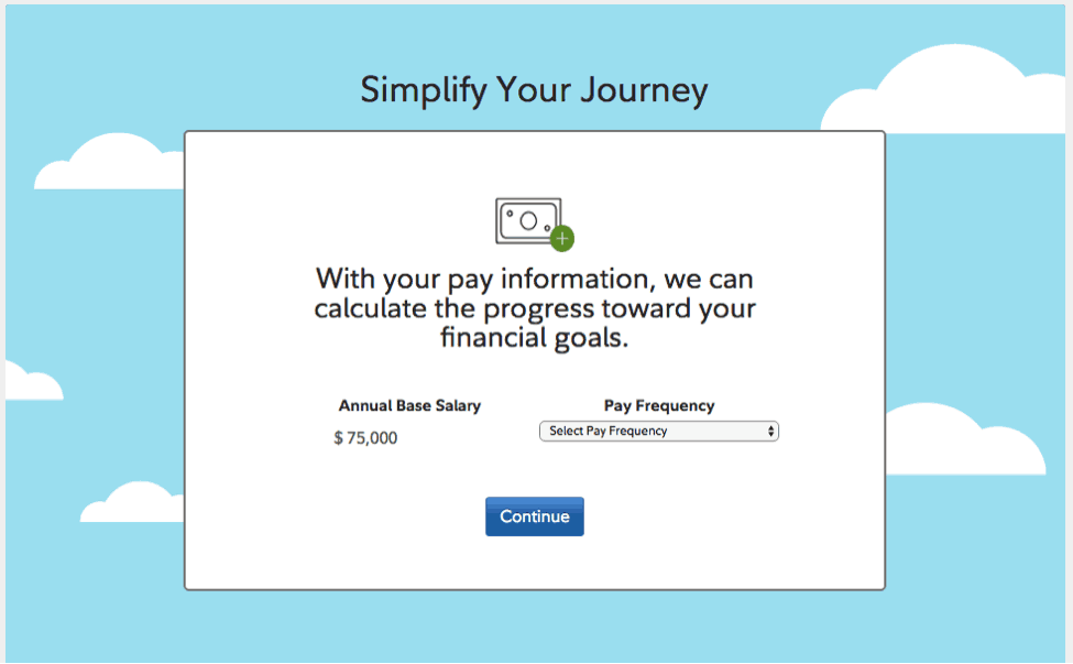 snapshot of fidelity calculator to find out when you can reach your financial goal