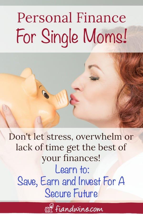 Mom kissing a piggy bank