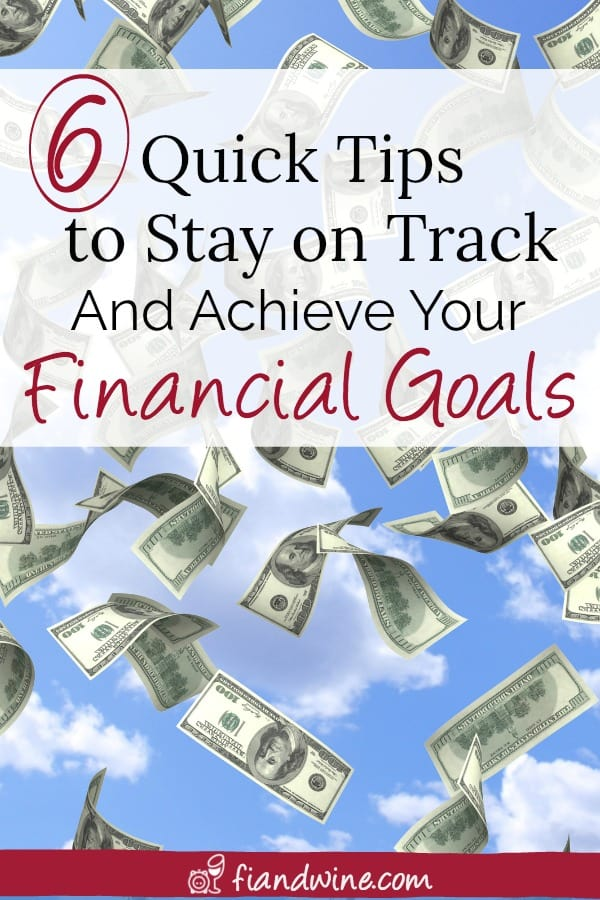 Learn 6 easy techniques to stay on track and achieve your financial goals. Personal Finance   Save Money   Wealth Building   Financial Independence   Goal Setting   #debtfree #debtpayoff #savemoney