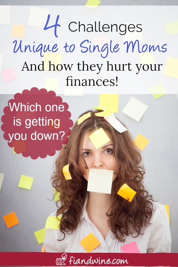 If you are a single mom that often feels stressed and overwhelmed, review these 4 major money challenges of being a single mom and learn tips on how you can overcome them and improve both your finances and your life. Single Mom Finances | Personal Finances | Financial Planning | Goal Setting | Money Management #singlemom #singlemomtips #personalfinance
