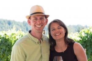 Image of Dawn and Jonathan wine tasting