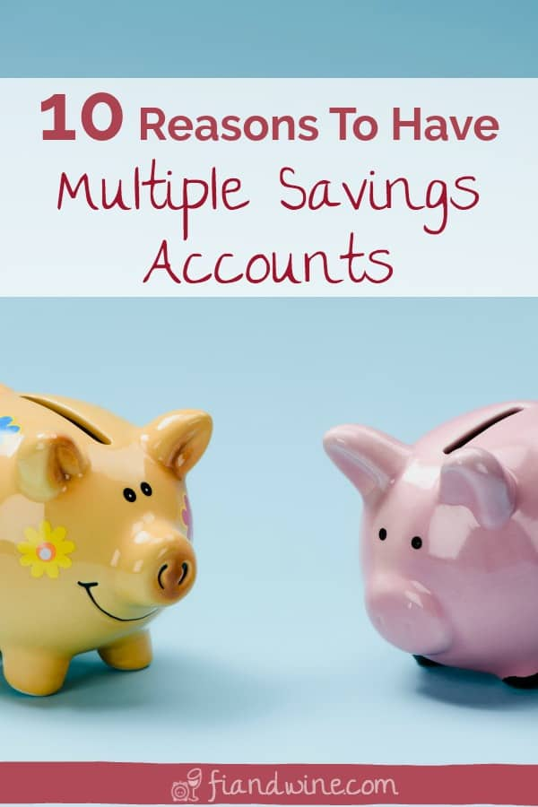 Use multiple bank accounts to budget and save for multiple goals. Here are 10 reasons why you need multiple savings accounts. Personal finance | Save money | Budget | Investing | Single mom finance | Money management | Financial planning #savemoney