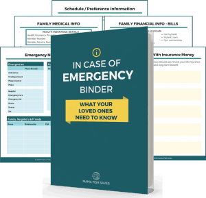 In case of emergency binder - what your loved ones need to know