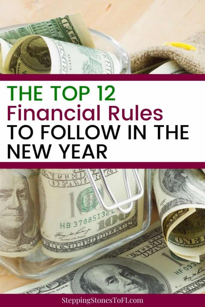 Learn the top money rules you need to follow in order to build wealth, save money, payoff debt and achieve financial security and independence. #personalfinance #savemoney #moneymanagement