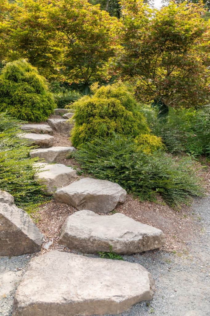 Beautiful Garden Setting With Stepping Stones