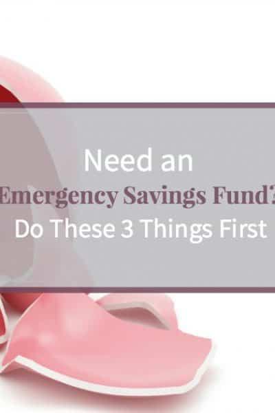 Broken piggy bank - do these three things before saving emergency fund
