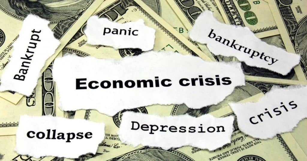 """$100 dollar bills with paper cut outs """"panic"""" """"economic crisis"""" """"depression"""" How to prepare for a recession"""