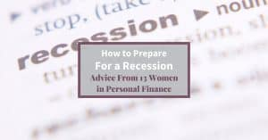"Dictionary definition of ""Recession"" Feature image How To Prepare for a Recession"""