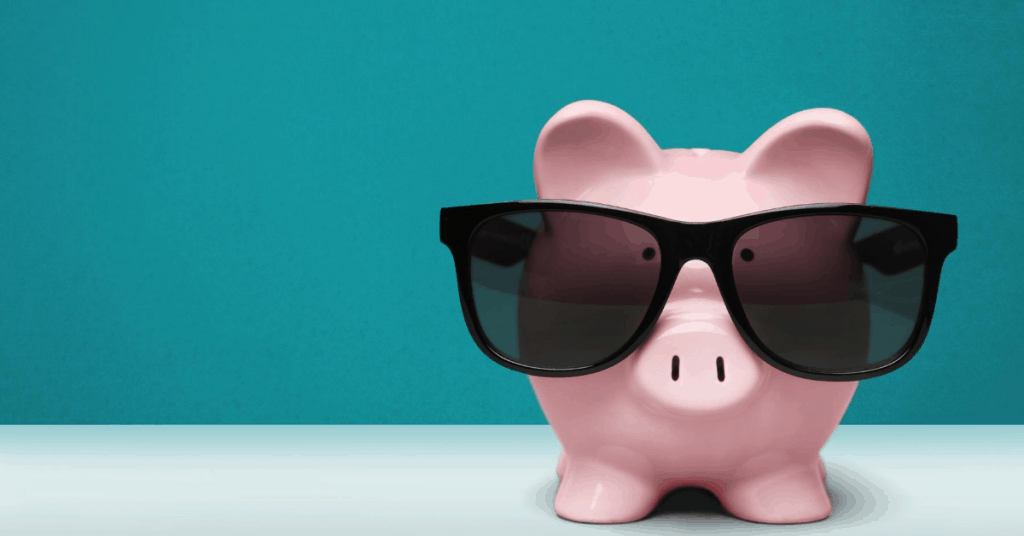Cool piggy bank with sunglasses - How to pay off debt like a boss