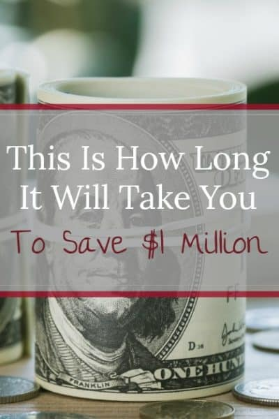 Learn exactly how long it will take you to save $1 million! Explaination, easy graphs and data table of how much you need to save and how long it will take.