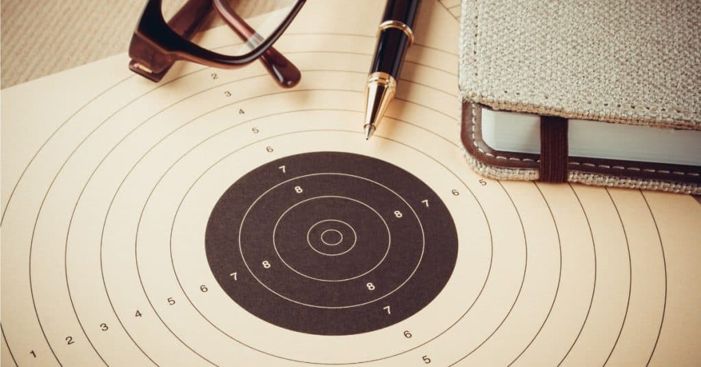 Goal setting with target, objectives and planning concept