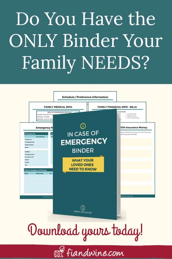 Are you and your loved ones prepared for an emergency? Does your spouse know how to locate all your financial and insurance accounts and documents? Does your family know how to manage the finances when you are gone? Create your family binder today for peace of mind. Personal Finance | Wealth Building | Family Emergency Binder | Family Plan | Estate Planning #emergencypreparedness
