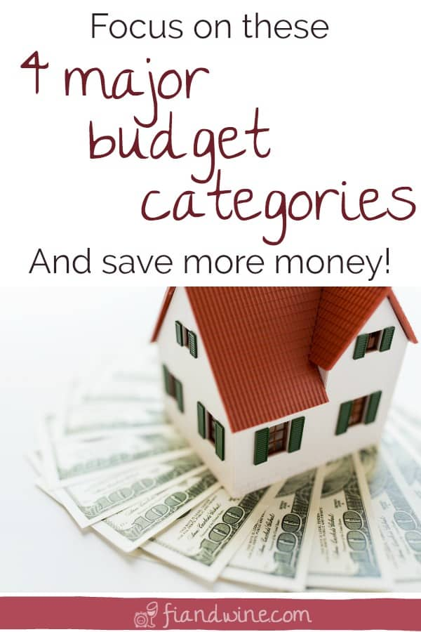 About 80% of our overall spending usually comes down to just 4 budget categories. Learn how to make the biggest impact by saving on the things that matter most. Personal Finance | Budget | Save Money | Financial Goals | #personalfinance #moneygoals