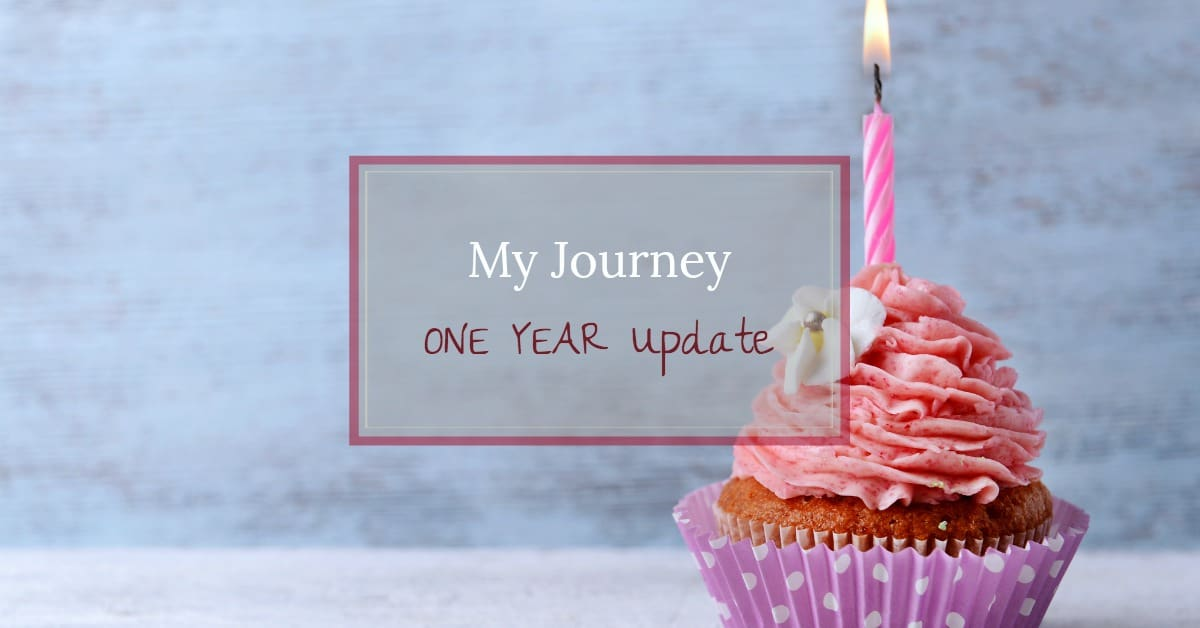 Cupcake with one candle - my journey, one year update