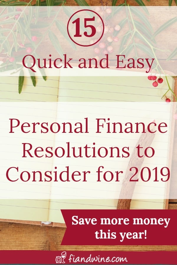 Consider these Quick and Easy Personal Finance resolutions and start saving more money! Personal Finance | Save Money | Resolutions | Single Mom Finance | Financial Independence | Wealth Building | Budgeting | Debt Payoff #personalfinance