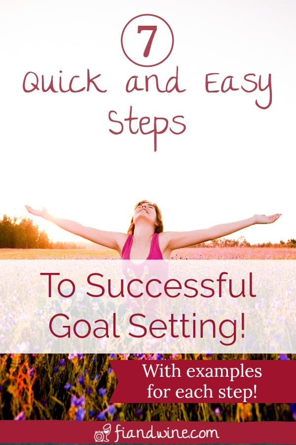 Learn the 7 simple steps I use to set my goals, stay on track, and achieve success! Goal Setting | Motivation | Life Goals | Worksheet | Tips #goalsetting #goalsetter
