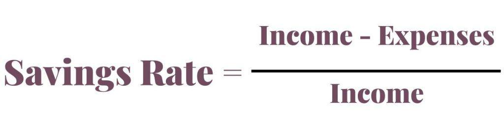 Formula for Savings Rate