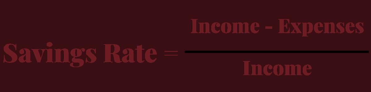 Savings Rate Calculation
