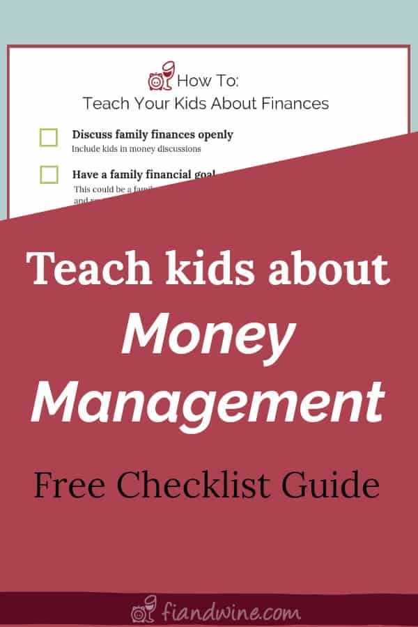 checklist guide to teach kids about personal finance and money management
