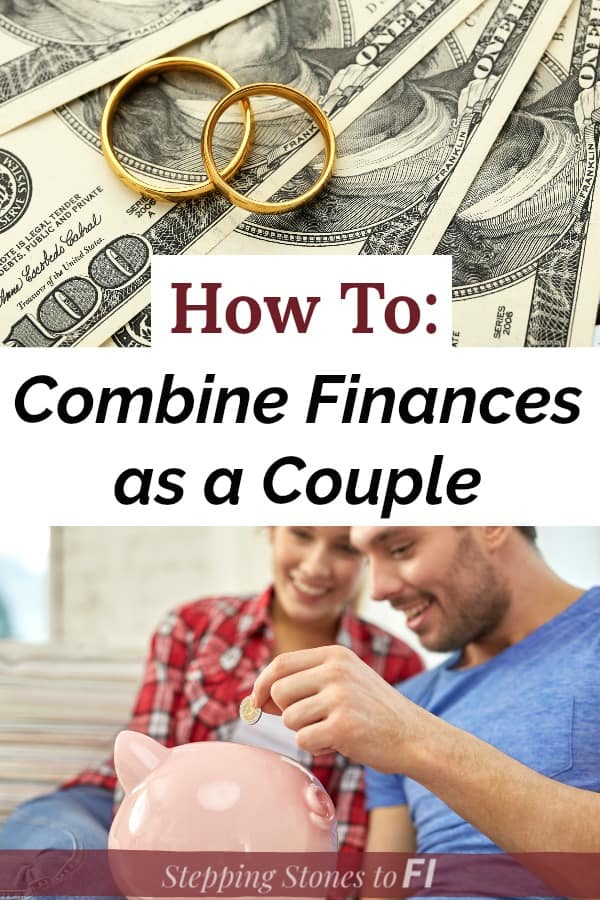 "Collage representing marriage and money ""How to combine finances as a couple"""