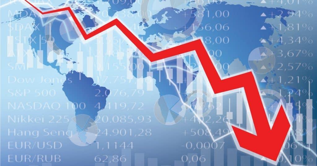 Image representing global stock market crash