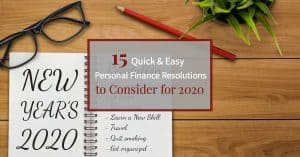 Personal Finance resolutions for 2020
