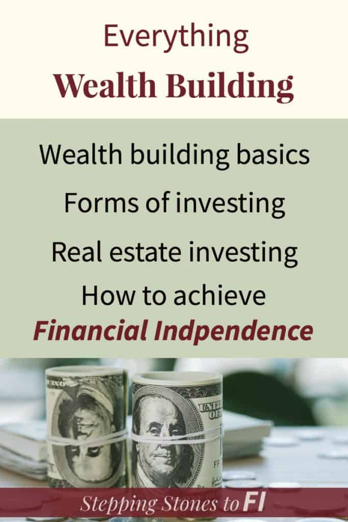 Everything Wealth Building with image of two rolls of hundred dollar bills